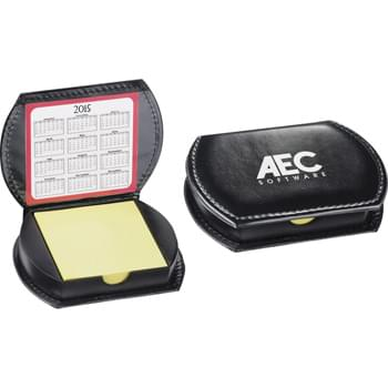 "UltraHyde Memo Case - Includes two, 80-page count, refillable 3"" x 3"" sticky notepads and a two-year reversible calendar. US Patent #D599,406S"