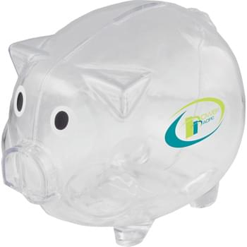 Piggy Bank - Desktop Bank.  Twist-open bottom to access stored change.