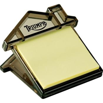 "Home Sweet Home Memo Clip - Magnetic memo clip with 30-page 2-1/2"" x 2-1/4"" yellow sticky memo pad. Non-refillable."