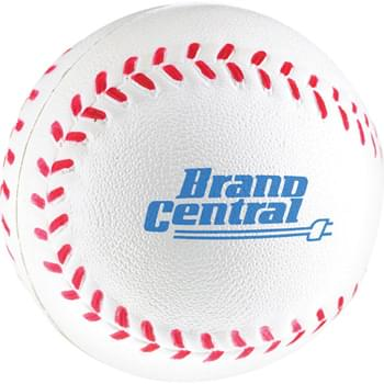 Baseball Stress Reliever - Squeezable foam.