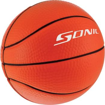 Basketball Stress Reliever - Squeezable foam.