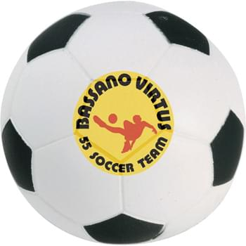Soccer Ball Stress Reliever - Squeezable foam.
