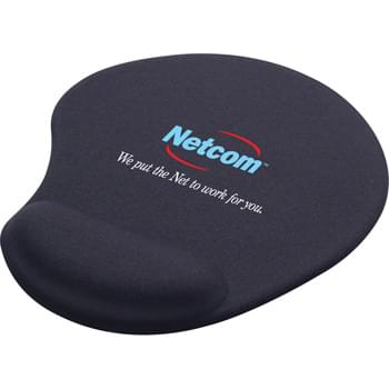 Solid Jersey Gel Mouse Pad / Wrist Rest - Soft, gel padding.