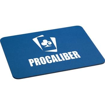 "1/8"" Rectangular Rubber Mouse Pad - 1/8"" rubber backing.  Computer mouse pad."