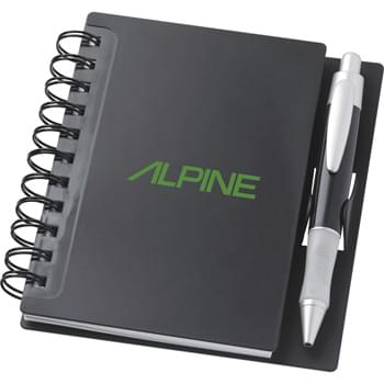 The Times Spiral Notebook - Spiral hard cover notebook with pen clip. Includes SM-4231 pen in matching colors. 100 unruled pages.