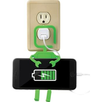 Huggable Phone Charging Station - This robotic hanging-charging station allows you to simply plug your AC adaptor in and the flexible arms will bend around your smartphones while charging. Power cord not included. Media device not included.