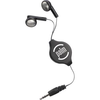 "Retractable Earbuds - CLOSEOUT! Please call to confirm inventory available prior to placing your order!<br />Use with any standard audio device.  3.5mm audio jack.   36"" retractable cord."
