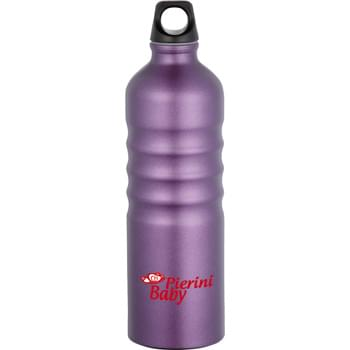 Gemstone 25-oz. Aluminum Sport Bottle - Single-wall construction. Matte finish. Twist-on lid. Recyclable.