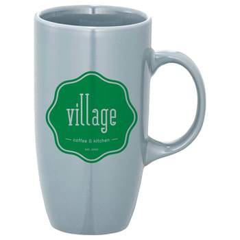 Vita 20-oz. Ceramic Mug - Tall mug with high gloss solid color finish. See General Information page for special ceramic item handling charge. Hand wash only. Follow any included care guidelines.