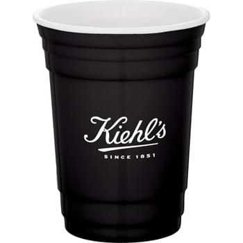 Tailgate 16-oz. Party Cup - CLOSEOUT! Please call to confirm inventory available prior to placing your order!<br />Double-wall construction.  Classic party cup design with white interior accent.