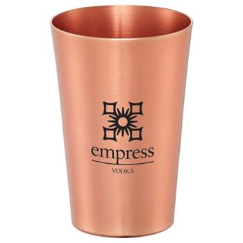 Copper 14-oz. Pint Glass - Metal pint glass in trendy copper finish. Hand wash only. Follow any included care guidelines.