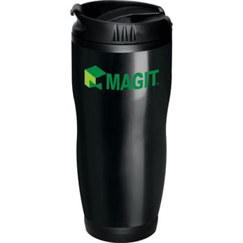 Logan 16-oz. Travel Tumbler - Double-wall construction. Twist-on lid with locking flip-top drink opening.