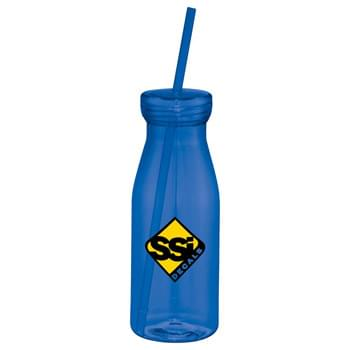 Yolo 18-oz. Tumbler with Straw - Single-wall tumbler with twist-on lid and matching straw. Straws included, not inserted. Hand wash only. Follow any included care guidelines.