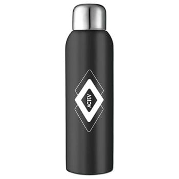 Guzzle 28-oz. Stainless Sports Bottle - Single-wall construction. Stainless steel screw-on lid. Hand wash only. Follow any included care guidelines.