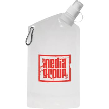 Cabo 20-oz. Water Bag with Carabiner - Laminated drink bag with 5mm aluminum carabiner. Includes twist-on, push/pull drink spout with removable cap. US Patent #D639,185