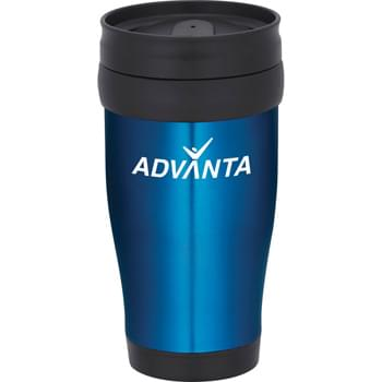 Madison 16-oz. Travel Tumbler - Double-wall construction. Twist-on lid with slide-lock drink opening.