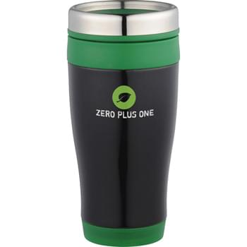 Carmel 16-oz. Travel Tumbler - Double-wall construction. Stainless Steel twist-on lid with slide-lock drink opening.