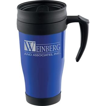 Modesto 16-oz. Insulated Mug - Double-wall construction.  Twist-on slide-lock lid.