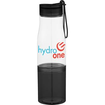 Hide-Away 16-oz. Tritan Sports Bottle - CLOSEOUT! Please call to confirm inventory available prior to placing your order!<br />Single-wall construction.  Twist-on lid with silicone strap.  Removable base for storage.