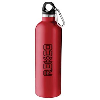 Atlantic 18-oz. Vacuum Bottle - Double-wall construction, vacuum insulated. Keeps drinks hot for 5 hours and cold for 15 hours. Twist-on lid. Includes silver 5mm carabiner.   Hand wash only. Follow any included care guidelines.