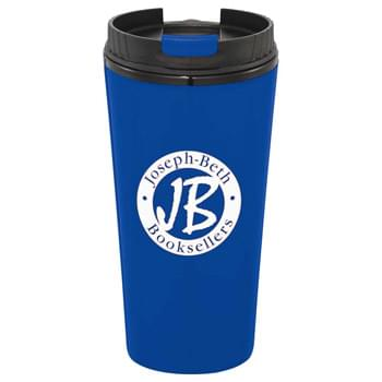 Toto 16-oz. Travel Tumbler - CLOSEOUT! Please call to confirm inventory available prior to placing your order!<br />Double-wall construction. Screw-on lid with no-spill, snap-top design. Hand wash only. Follow any included care guidelines.