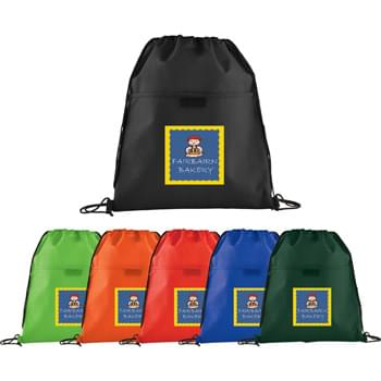 Insulated Non-Woven Drawstring Sportpack - Open insulated main compartment with drawstring closure.