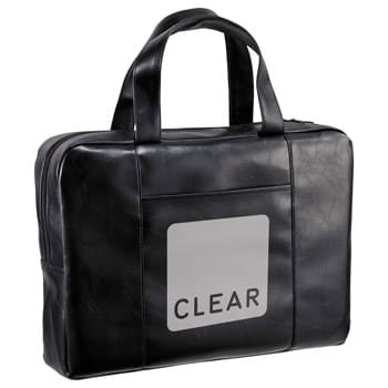 Classic Vinyl Zippered Brief - Zippered single main compartment with ample room for all of your work files and essentials. Front slash pocket, vinyl body and 6' grab handles.