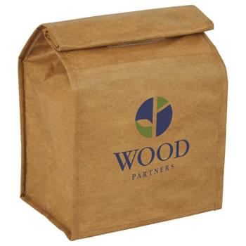 Brown Paper Bag Cooler - Brown paper bag style to resemble the real thing! Insulated main compartment with Velcro rolltop closure.