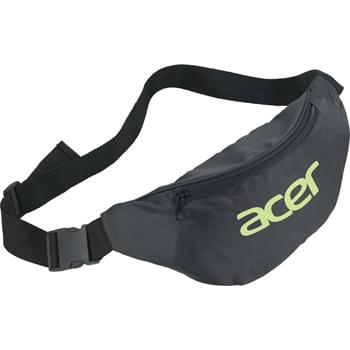 The Hipster Budget Fanny Pack - Zippered main compartment. Adjustable waist strap with buckle for putting on.