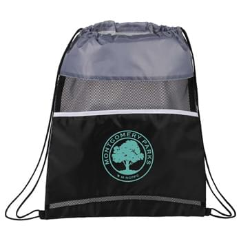 Mesh Up Drawstring Sportspack - Open main compartment with cinch closure. Mesh accent panel.