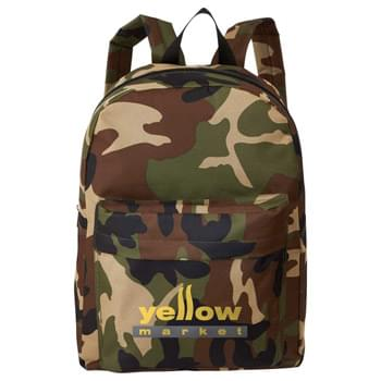 "Valley Camo 15"" Computer Backpack - Large and spacious zippered main compartment. Large gusseted zippered front pocket with protective flap. Adjustable reinforced padded shoulder straps. Top carry handle."