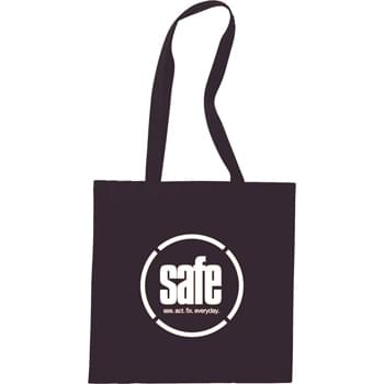 "The Carolina Cotton Convention Tote - Slim design perfect for conventions and tradeshows. Open main cotton compartment with double 29"" reinforced handles. Reusable and a great alternative to plastic bags."