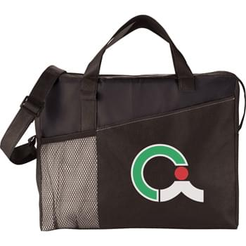 "The Full Time Business Brief Bag - Zippered main compartment with double 13"" reinforced carry handles. Zippered front pocket. Mesh front pocket and pen loop. Adjustable shoulder strap."