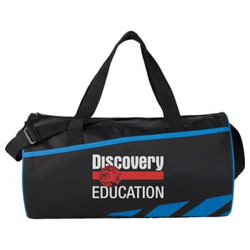 "Flash 17' Sport Duffel Bag - Kid-Friendly and PVC free. Zippered main compartment. Large front slash pocket. 18.5"" grab handles. Adjustable shoulder strap."