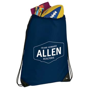 Catch All Drawstring Sportspack - Kid-Friendly! Large open main compartment with drawstring closure. Reinforced corner tabs.