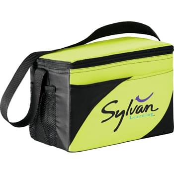 "The Mission Cooler Bag - PEVA insulation. Zippered main compartment. Open front pocket. Side mesh pocket. 27"" handle."