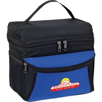 On the Go Cooler Bag - CLOSEOUT! Please call to confirm inventory available prior to placing your order!<br />PEVA insulation. Zippered main compartment. Gusseted zippered front pocket. Side open pockets. Reinforced top carry handle.