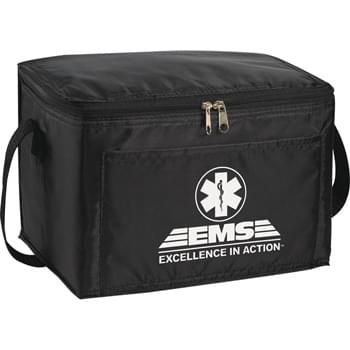 "The Spectrum Budget Cooler Bag - PEVA insulation. Zippered main compartment. Open front pocket. 21"" handle."