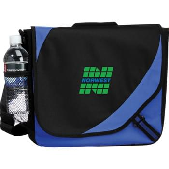 The Storm Messenger Bag - Open main compartment with Velcro flap closure. Accessory pockets under flap and mesh pocket on side. Adjustable shoulder strap and reinforced top carry handle.