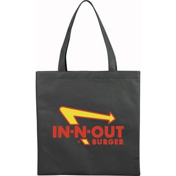 "The Small Zeus Convention Tote Bag - Slim design perfect for conventions and tradeshows. Open main compartment with double 22"" handles. Reusable and a great alternative to plastic bags."