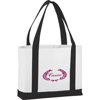 "The Large Boat Tote Bag - Large open main compartment with double 23"" handles. Front open pocket."
