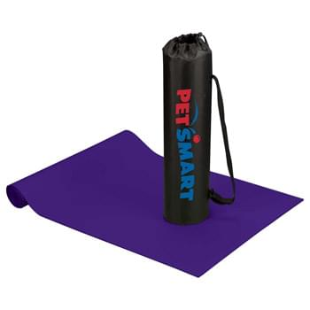 "The Cobra Fitness and Yoga Mat - Comfortable yoga and fitness mat with diamond pattern and non-slip surface. Includes polyester carrying pouch with drawstring closure and adjustable shoulder strap. Mat size: 24"" W x 67"" L."