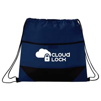 Angles Non-Woven Drawstring Sportspack - Open main compartment with drawstring rope closure. Kid-Friendly.