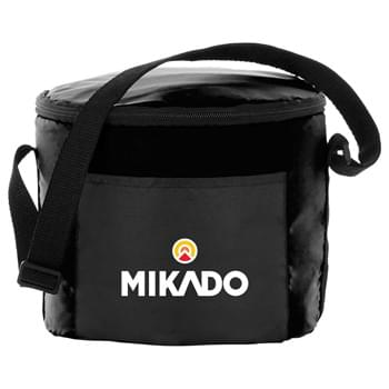 Tubby Lunch Cooler - Round design. Insulated PEVA lining. Adjustable shoulder strap