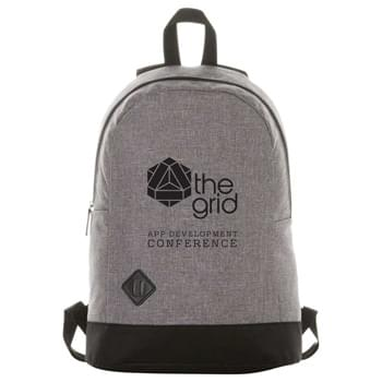 "Graphite Dome 15"" Computer Backpack - Zippered main compartment with 15"" laptop sleeve. Lash tab accent on front. Padded shoulder straps and grab handle."