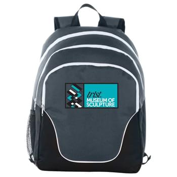 "Tri 15"" Computer Backpack - CLOSEOUT! Please call to confirm inventory available prior to placing your order!<br />Three zippered compartments. Main compartment offers 15"" laptop sleeve. Padded shoulder straps and grab handle."