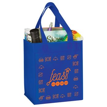 Basic Grocery Tote - Large open main compartment. Reusable and great alternative to plastic bags.