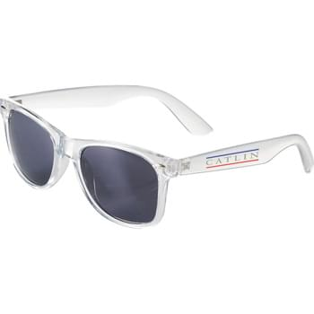 The Sun Ray Sunglasses - Crystal - Classic folding eyewear. UV 400 protective lenses.