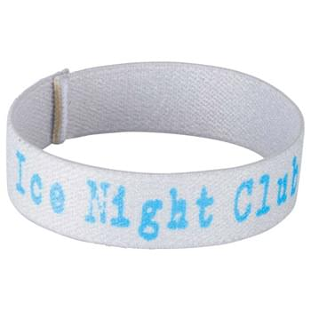 "Full Color Wrist Band - 7""L x 3/4""W - Fully sublimation-dyed personal wrist band. 3/4-inch width. Elastic stretch polyester. Packed in standard bundles of 50. Made in USA. FOB ZIP: RI, 02920"
