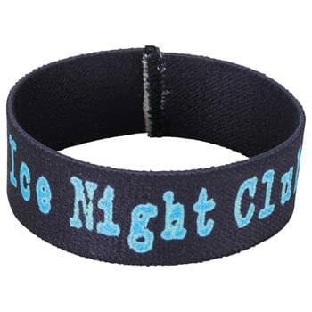 "Full Color Wrist Band - 7""L x 1""W - Fully sublimation-dyed personal wrist band. 1-inch width. Elastic stretch polyester. Packed in standard bundles of 50. Made in USA. FOB ZIP: RI, 02920"